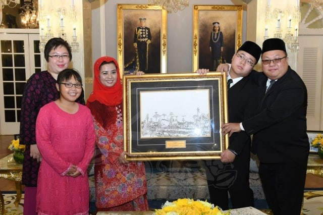 Art Presentation to the Queen of Johor