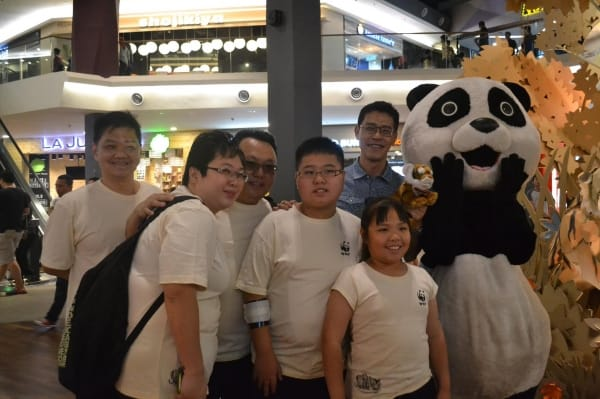 WWF T shirt launching in Mid Valley